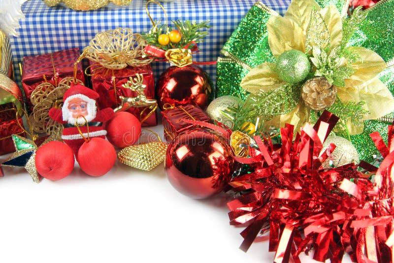 Κούκλα Santa και βοηθητικές διακοσμήσεις της ημέρας των Χριστουγέννων. στοκ φωτογραφία