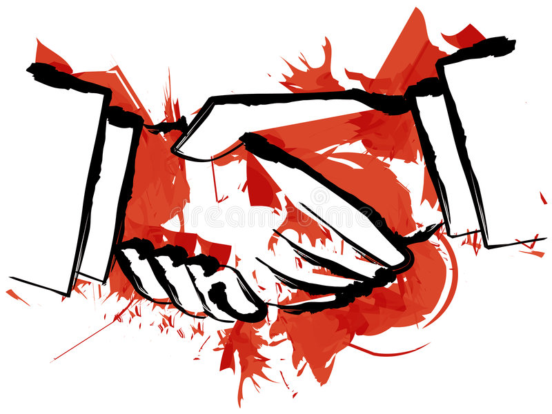 κούνημα χεριών αίματος ελεύθερη απεικόνιση δικαιώματος
