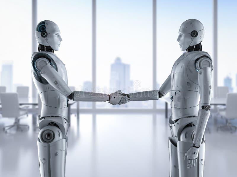 Κούνημα χεριών ρομπότ διανυσματική απεικόνιση