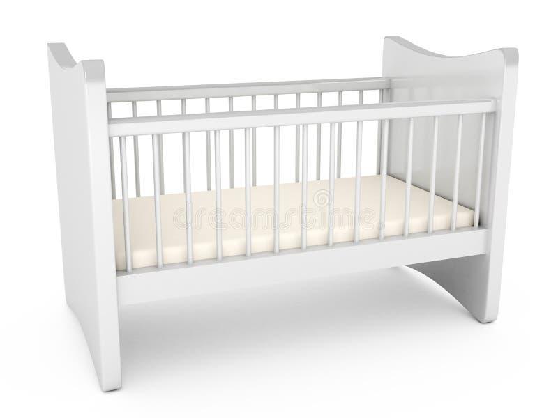 Κούνια μωρών πέρα από το άσπρο υπόβαθρο διανυσματική απεικόνιση