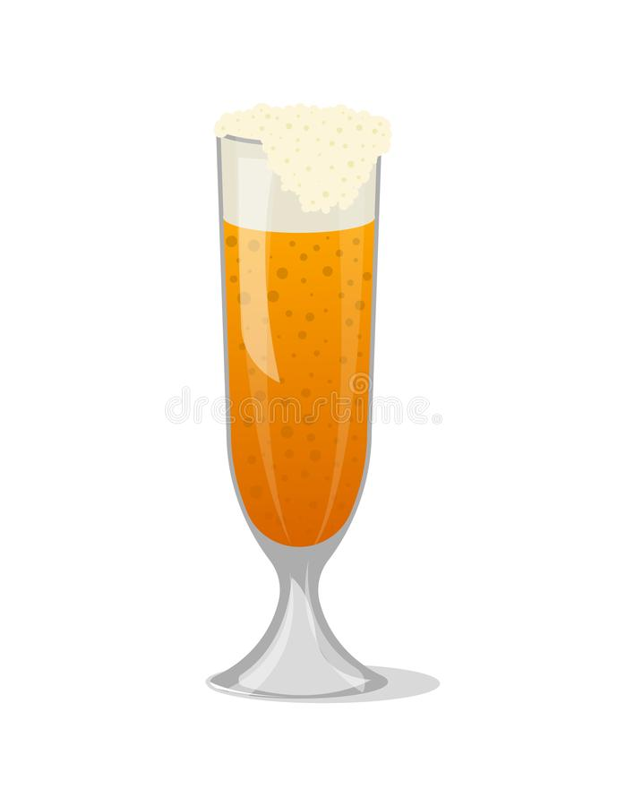 Κούπα γυαλιού του frothy απομονωμένου μπύρα εικονιδίου διανυσματική απεικόνιση