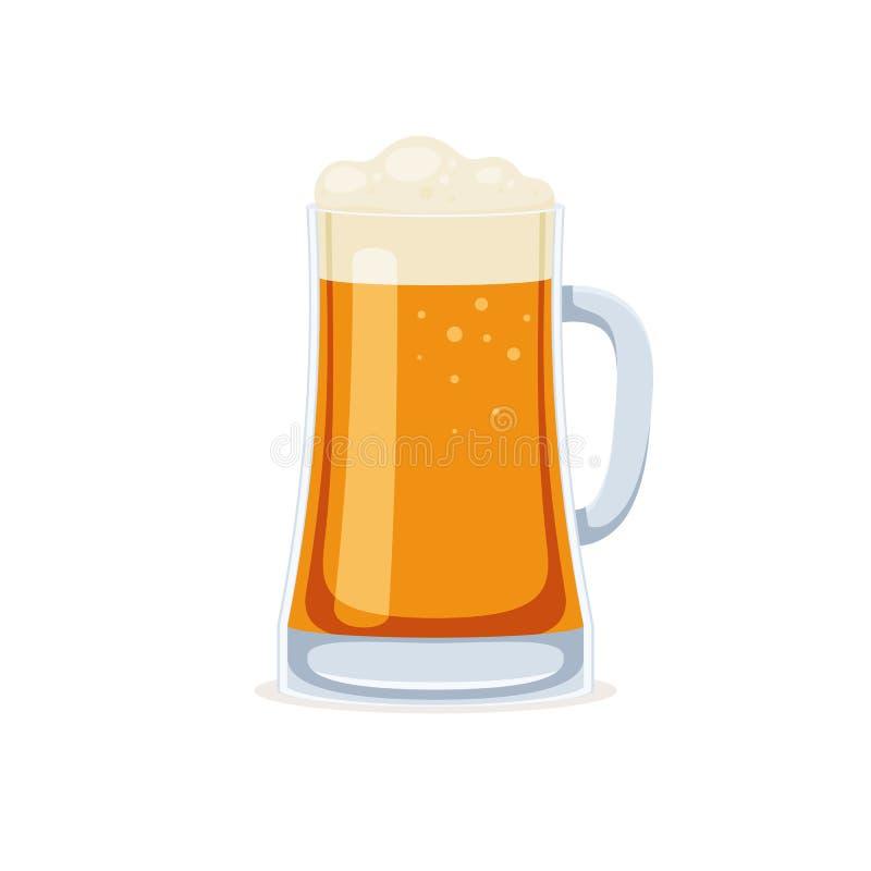 Κούπα γυαλιού της μπύρας διανυσματική απεικόνιση