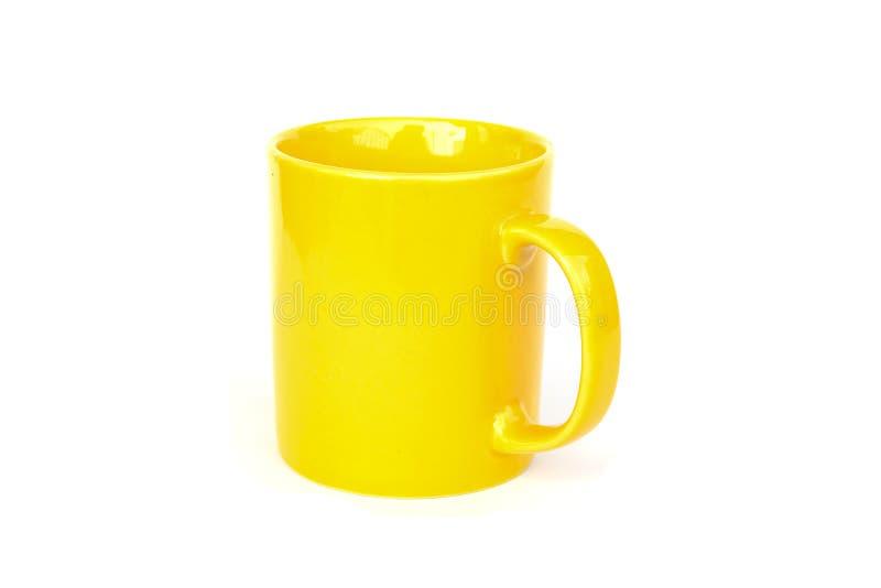 κούπα κίτρινη στοκ φωτογραφίες