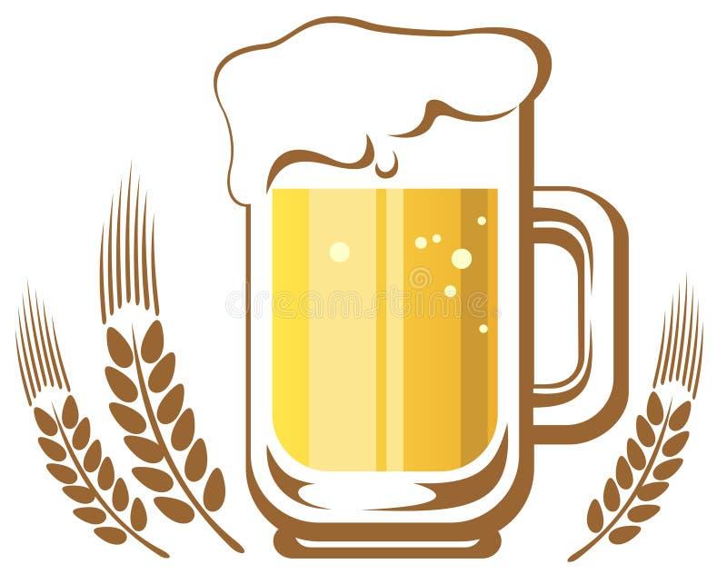 Κούπα και αυτί μπύρας ελεύθερη απεικόνιση δικαιώματος