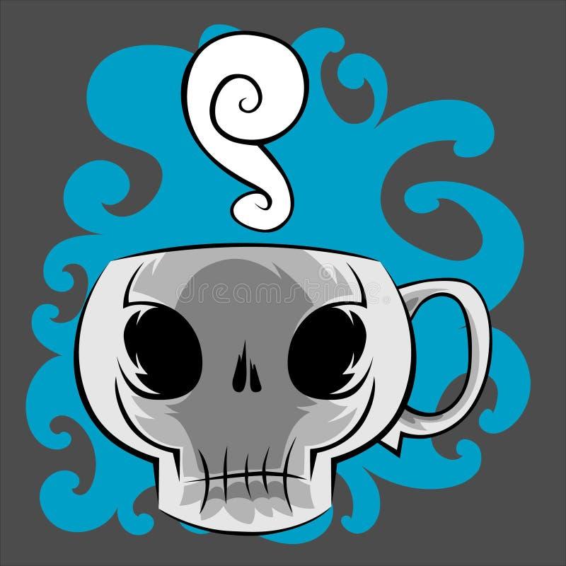 Κούπα καφέ κρανίων απεικόνιση αποθεμάτων