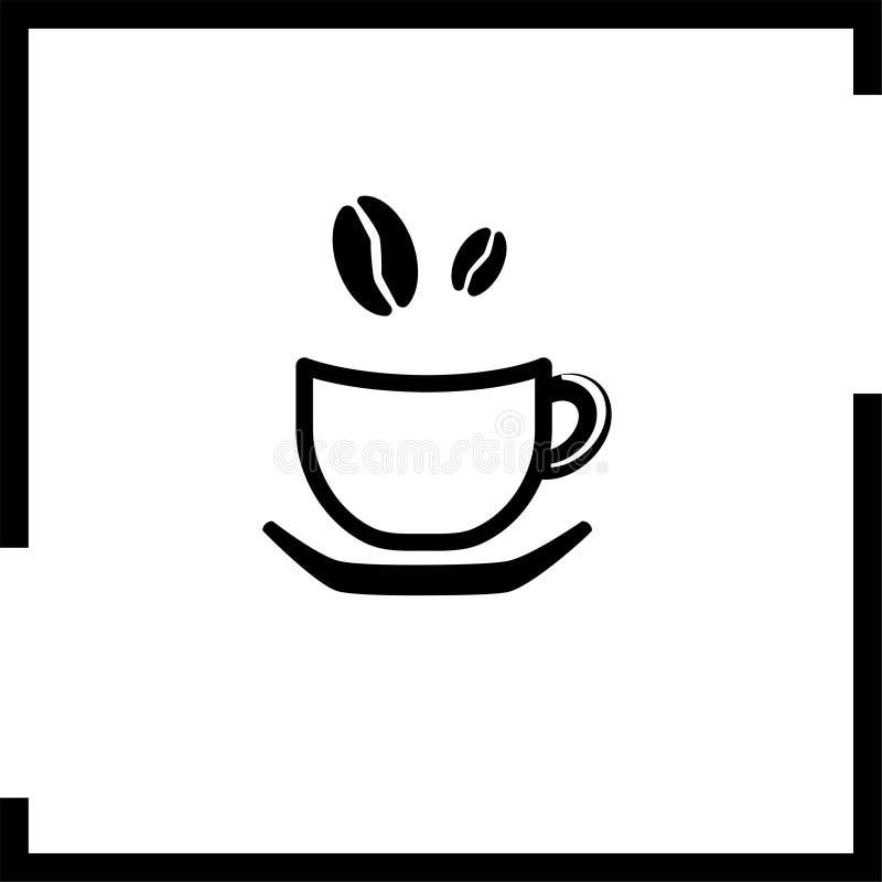 Κούπα καφέ σε ένα πιάτο με τα σιτάρια που τακτοποιούνται απεικόνιση αποθεμάτων