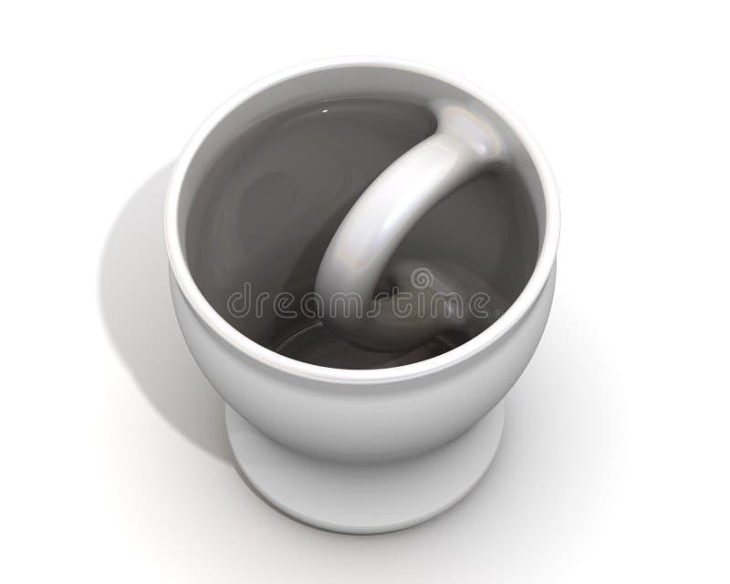Κούπα με μια ασυνήθιστη ρύθμιση της λαβής διανυσματική απεικόνιση
