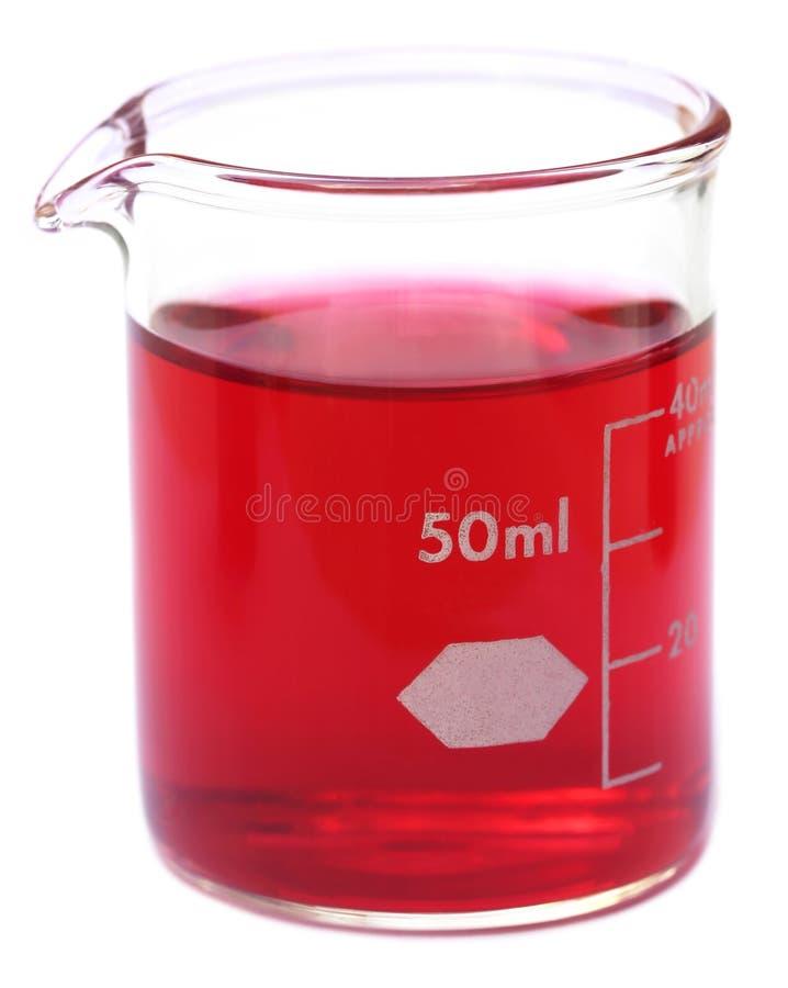 Κούπα με τη χημική ουσία στοκ φωτογραφία
