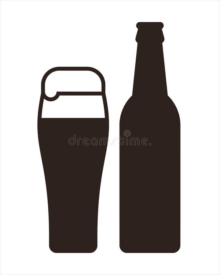 κούπα μπουκαλιών μπύρας απεικόνιση αποθεμάτων