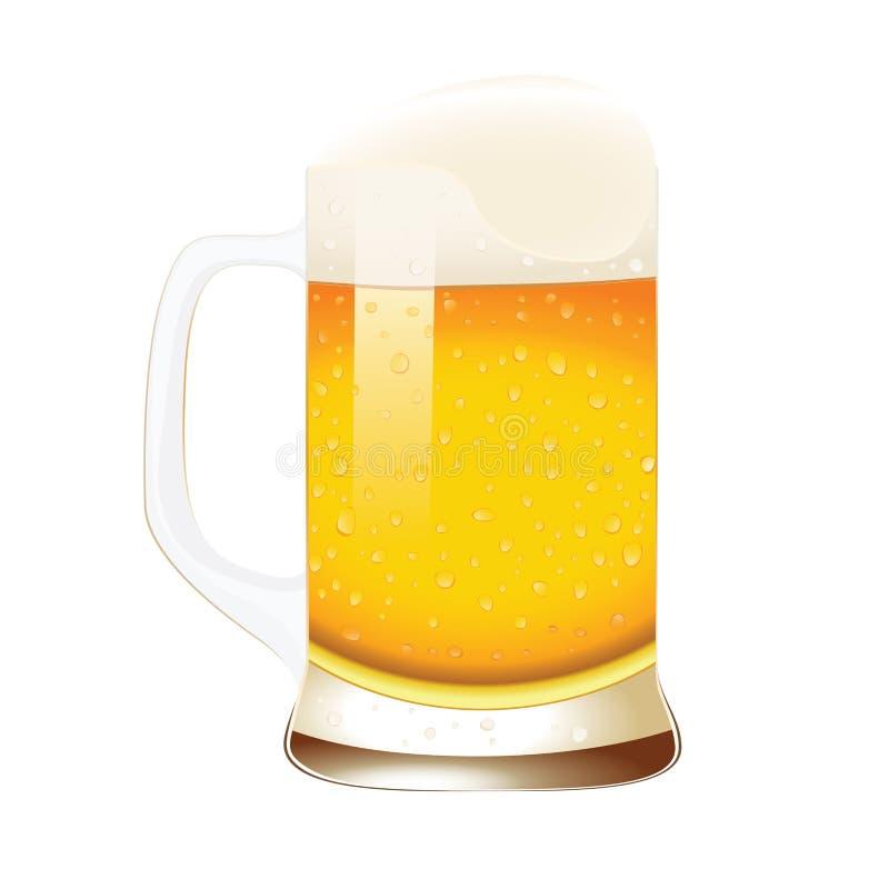 Κούπα μπύρας με τον αφρό ελεύθερη απεικόνιση δικαιώματος
