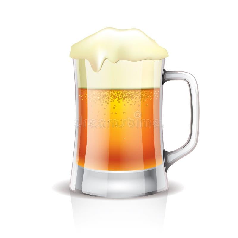 Κούπα μπύρας στο λευκό απεικόνιση αποθεμάτων