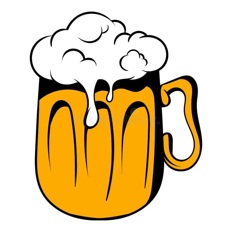 Κούπα του εικονιδίου μπύρας, κινούμενα σχέδια εικονιδίων διανυσματική απεικόνιση
