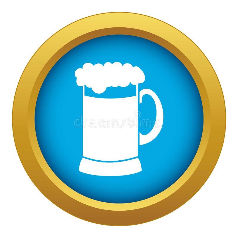 Κούπα του σκοτεινού μπλε διανύσματος εικονιδίων μπύρας που απομονώνεται απεικόνιση αποθεμάτων