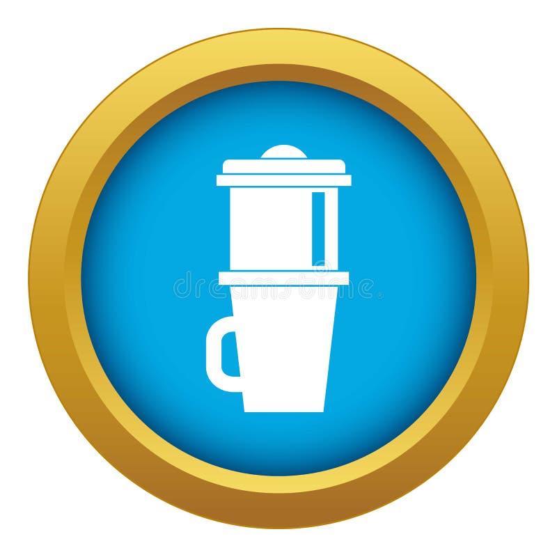 Κούπα το μπλε διάνυσμα εικονιδίων καφέ που απομονώνεται για απεικόνιση αποθεμάτων