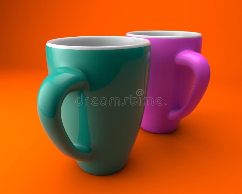 Κούπες καφέ στοκ εικόνα με δικαίωμα ελεύθερης χρήσης