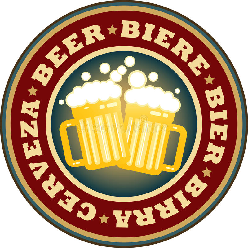 κούπες μπύρας απεικόνιση αποθεμάτων