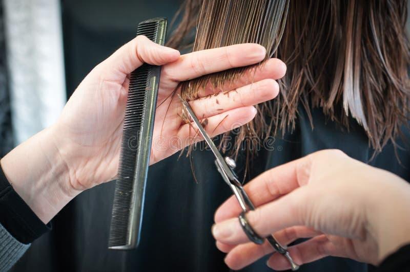 Κούρεμα στο coiffeur στοκ εικόνα
