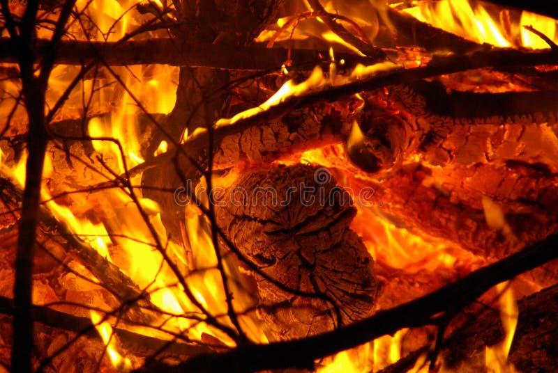 κούτσουρα πυρκαγιάς στοκ φωτογραφία