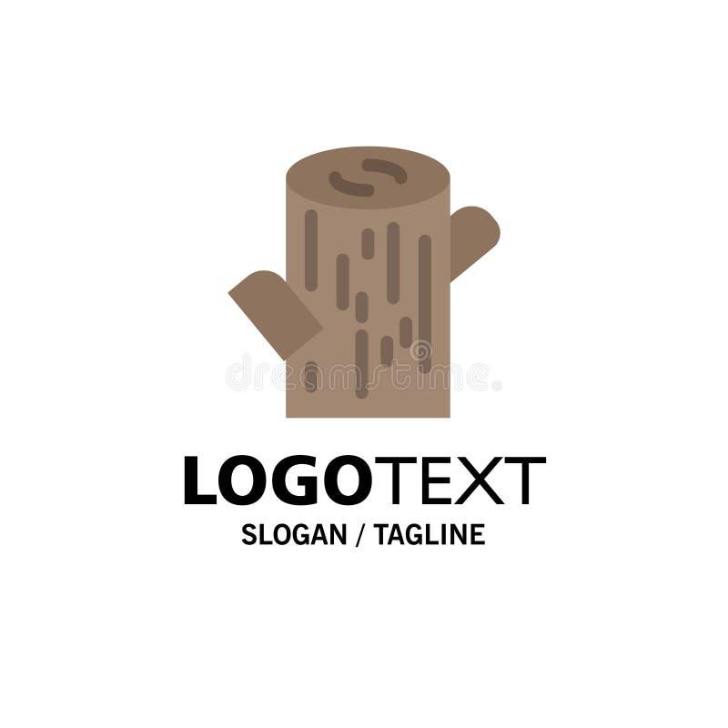 Κούτσουρο, ξυλεία, ξύλινο πρότυπο επιχειρησιακών λογότυπων Επίπεδο χρώμα διανυσματική απεικόνιση