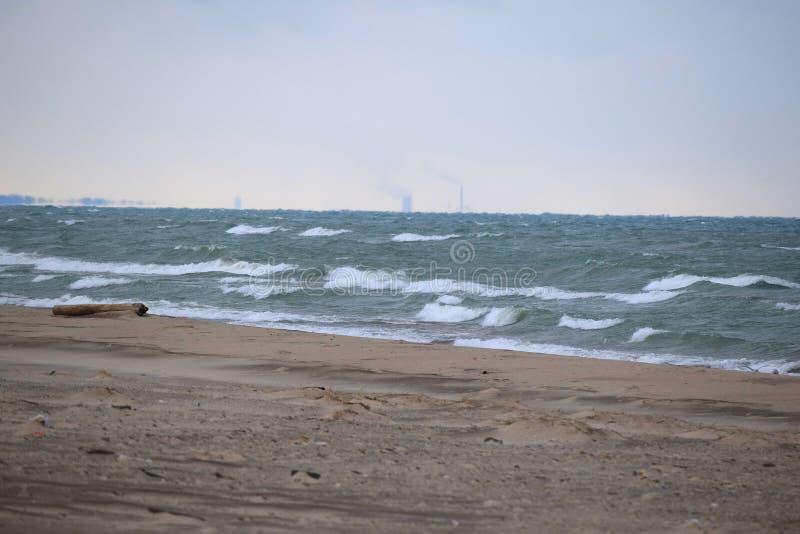 Κούτσουρο που αγνοεί τη λίμνη Μίτσιγκαν στοκ εικόνες με δικαίωμα ελεύθερης χρήσης