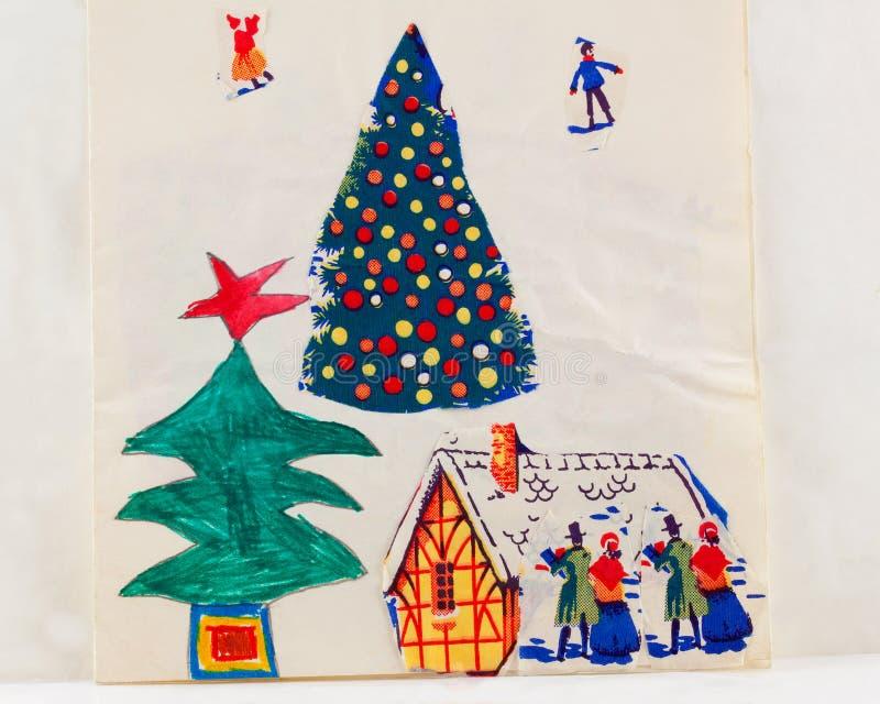 Κολάζ για τα Χριστούγεννα διανυσματική απεικόνιση