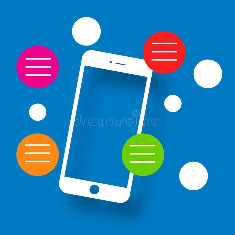 Κολάζ εικονιδίων οθόνης Smartphone διανυσματική απεικόνιση