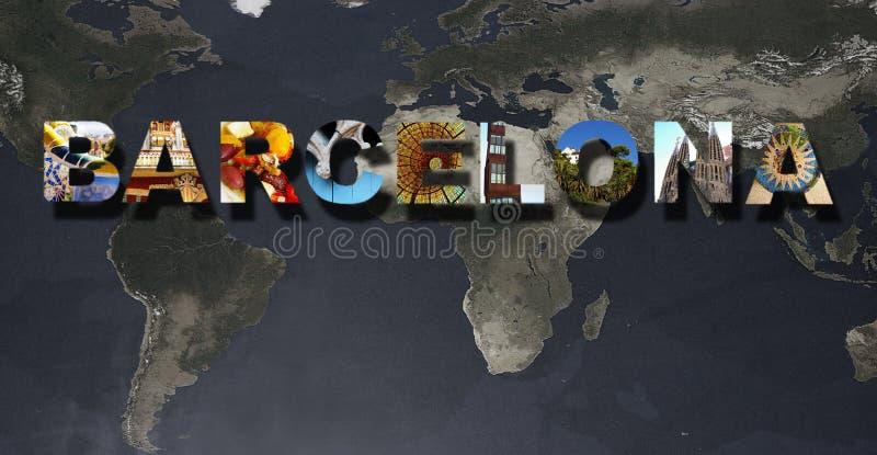 Κολάζ εικόνων της Βαρκελώνης στοκ φωτογραφίες με δικαίωμα ελεύθερης χρήσης
