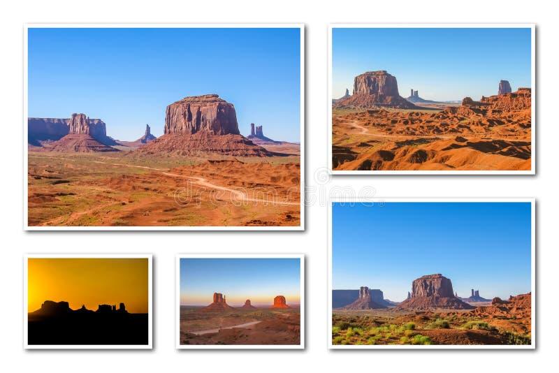 Download Κολάζ κοιλάδων μνημείων στοκ εικόνες. εικόνα από ταξίδι - 62715436