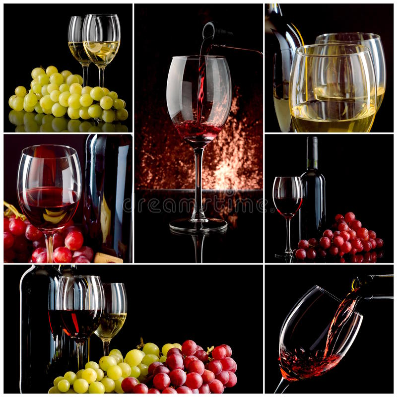 Κολάζ κρασιού στοκ φωτογραφίες
