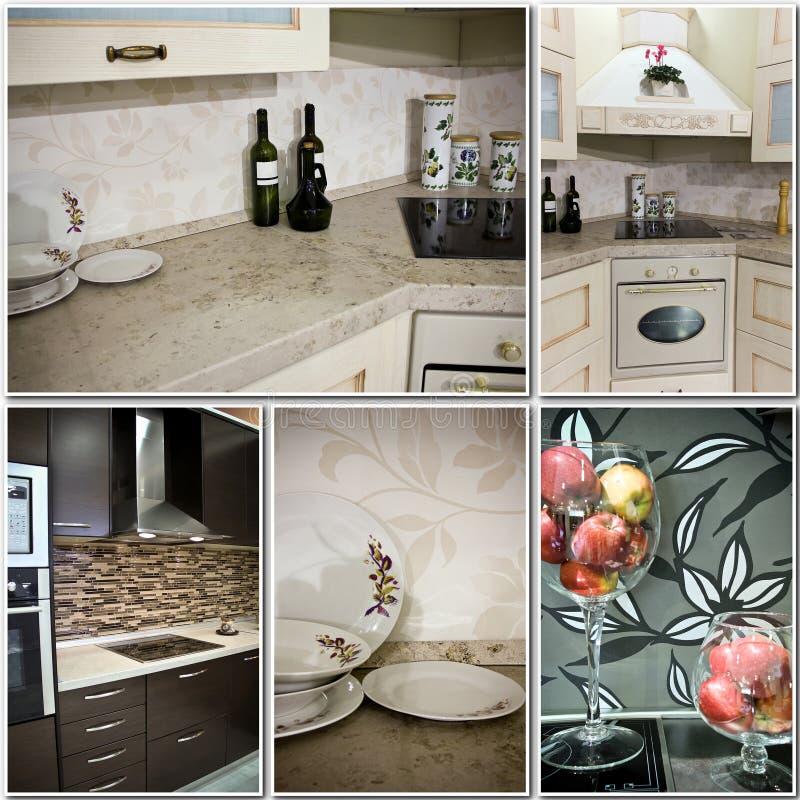 Κολάζ ντεκόρ κουζινών στοκ εικόνα