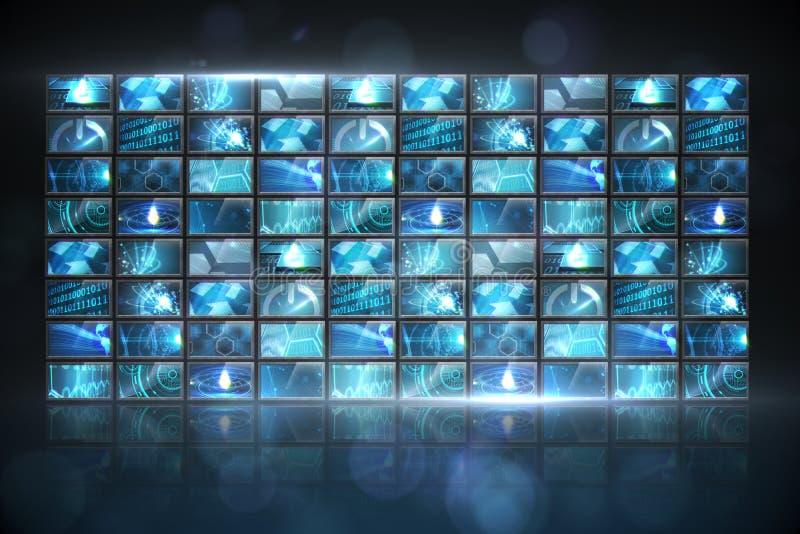 Κολάζ οθόνης που παρουσιάζει εικόνες υπολογισμού απεικόνιση αποθεμάτων