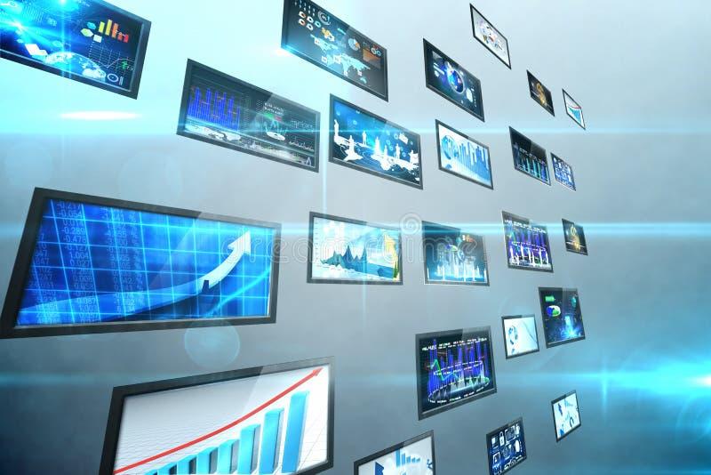 Κολάζ οθόνης που παρουσιάζει επιχειρησιακές εικόνες ελεύθερη απεικόνιση δικαιώματος