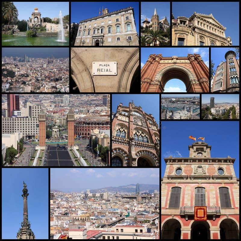 Κολάζ της Βαρκελώνης στοκ φωτογραφίες