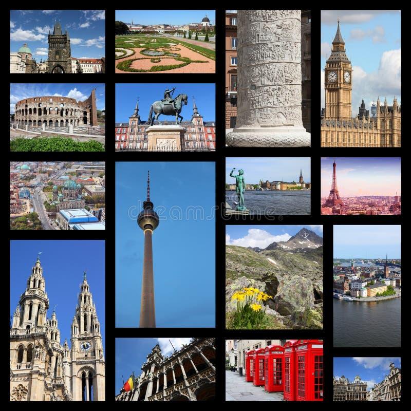 Κολάζ της Ευρώπης στοκ φωτογραφία