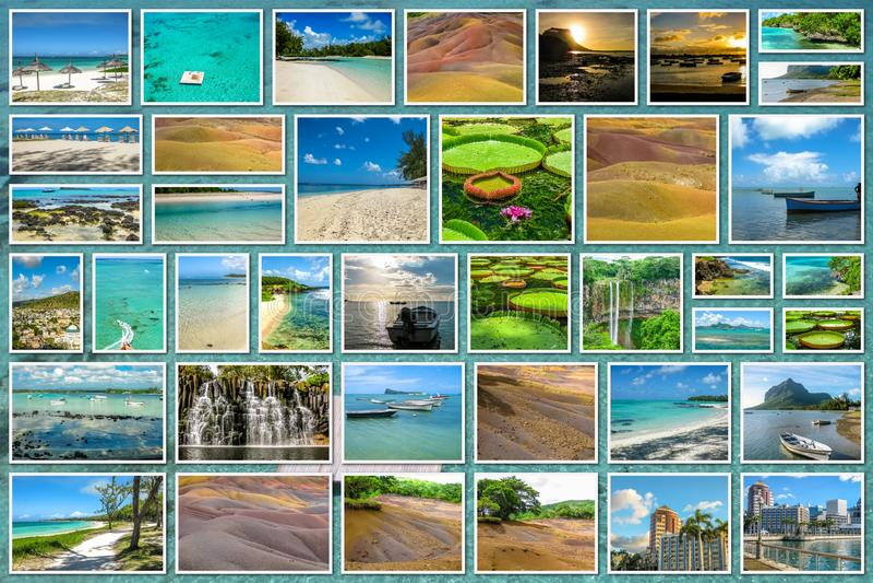 Download Κολάζ τοπίων του Μαυρίκιου στοκ εικόνα. εικόνα από ινδικά - 62716109