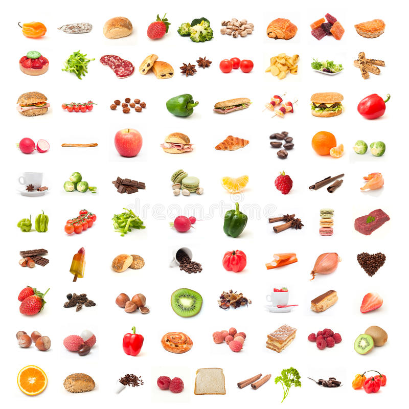 Κολάζ τροφίμων συστατικών στοκ εικόνες