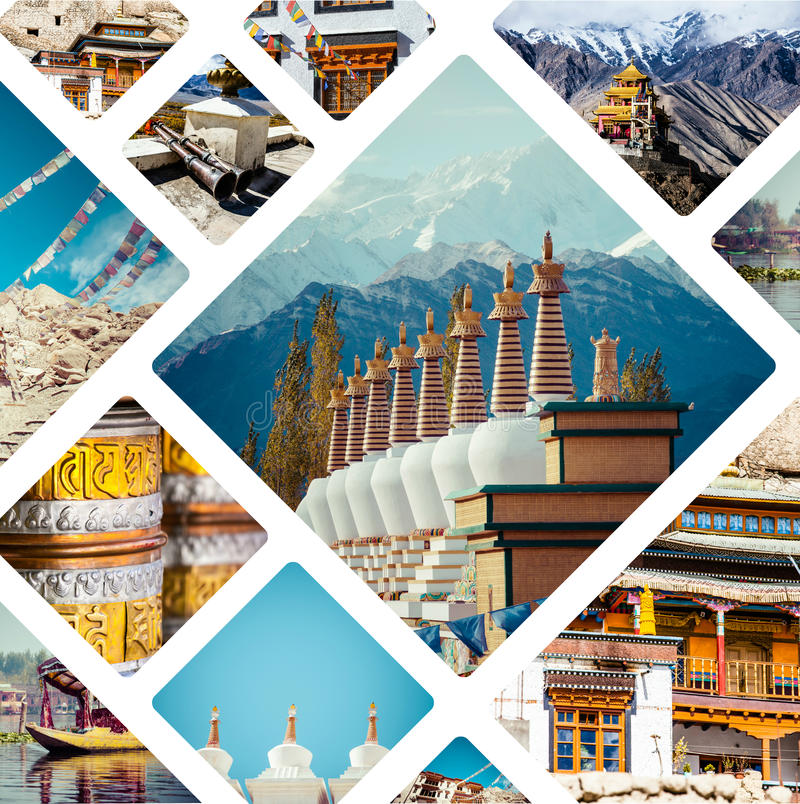 Κολάζ των εικόνων της Ινδίας - υπόβαθρο & x28 ταξιδιού το photos& μου x29  στοκ εικόνες