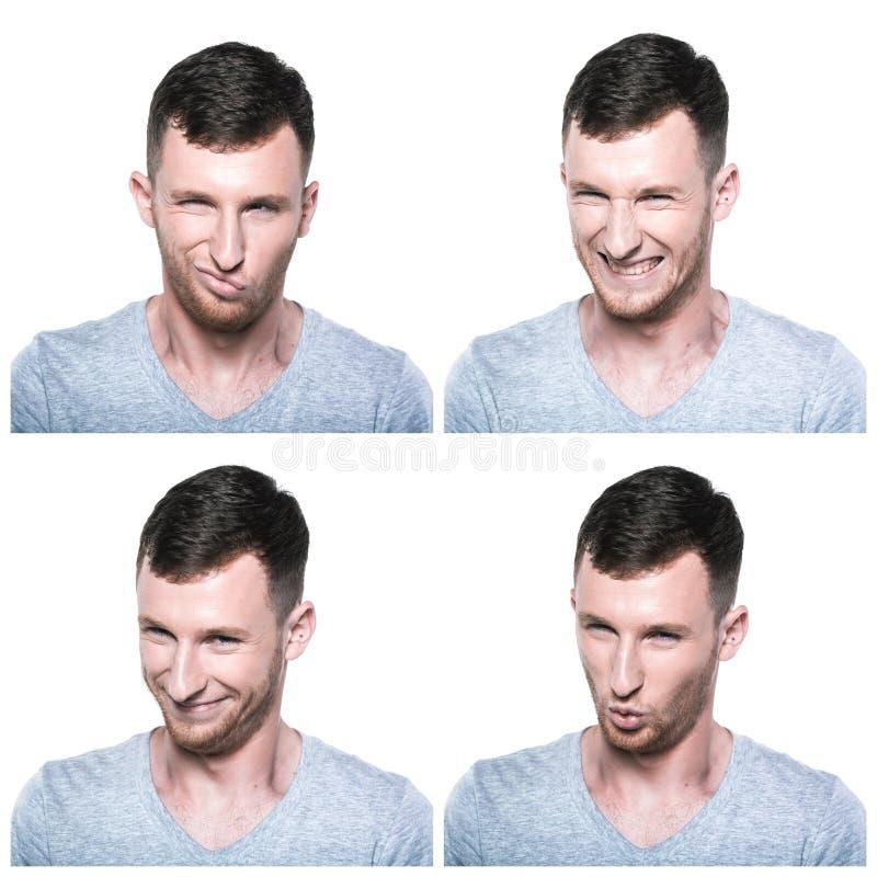 Κολάζ των επίβουλων, πανούργων εκφράσεων προσώπου στοκ φωτογραφία με δικαίωμα ελεύθερης χρήσης