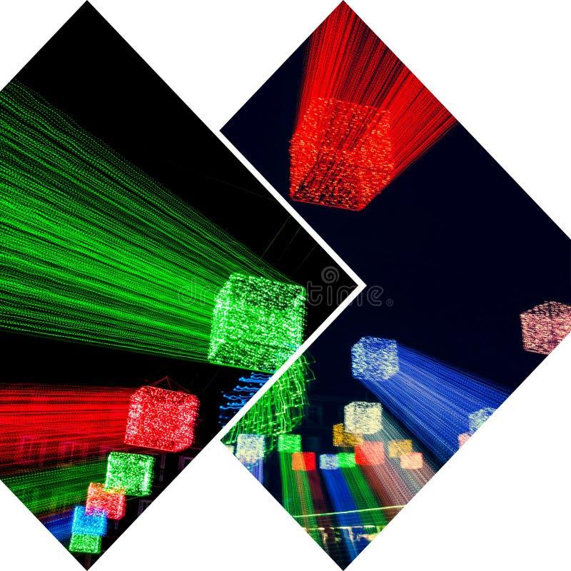Κολάζ των συγκεχυμένων εικόνων φωτισμού στοκ φωτογραφία με δικαίωμα ελεύθερης χρήσης