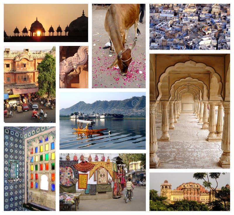 Κολάζ φωτογραφιών του Rajasthan στοκ εικόνα