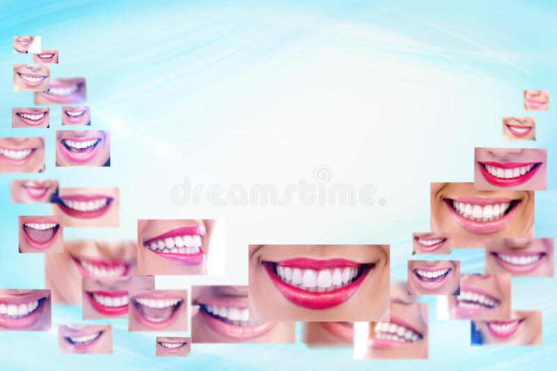 Κολάζ χαμόγελου στοκ εικόνα με δικαίωμα ελεύθερης χρήσης