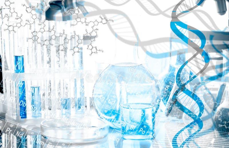 Κολάζ DNA στοκ φωτογραφίες με δικαίωμα ελεύθερης χρήσης
