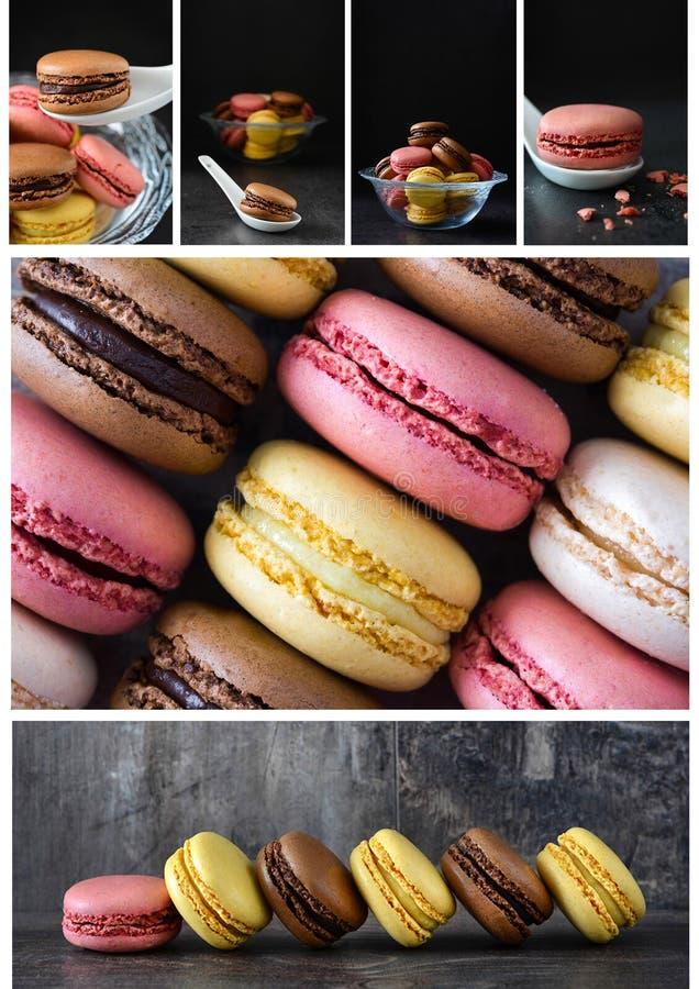 Κολάζ Macarons στοκ φωτογραφία με δικαίωμα ελεύθερης χρήσης
