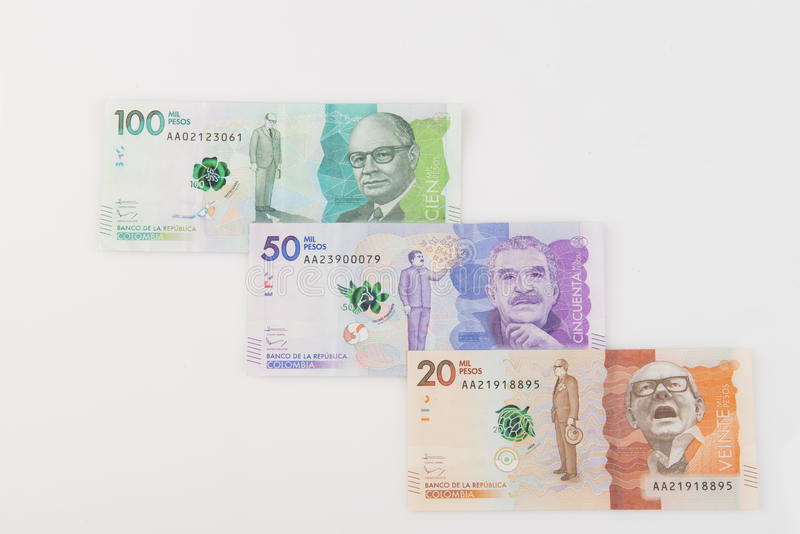 κολομβιανά χρήματα στοκ εικόνες με δικαίωμα ελεύθερης χρήσης