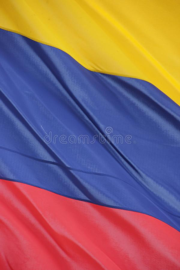 κολομβιανή σημαία στοκ εικόνες