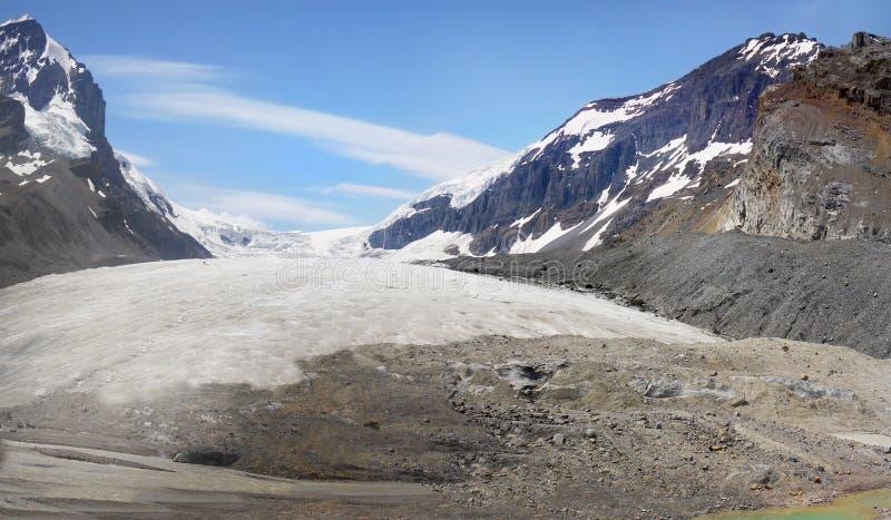 Κολούμπια Icefield, εθνικό πάρκο ιασπίδων, Καναδάς στοκ φωτογραφία με δικαίωμα ελεύθερης χρήσης