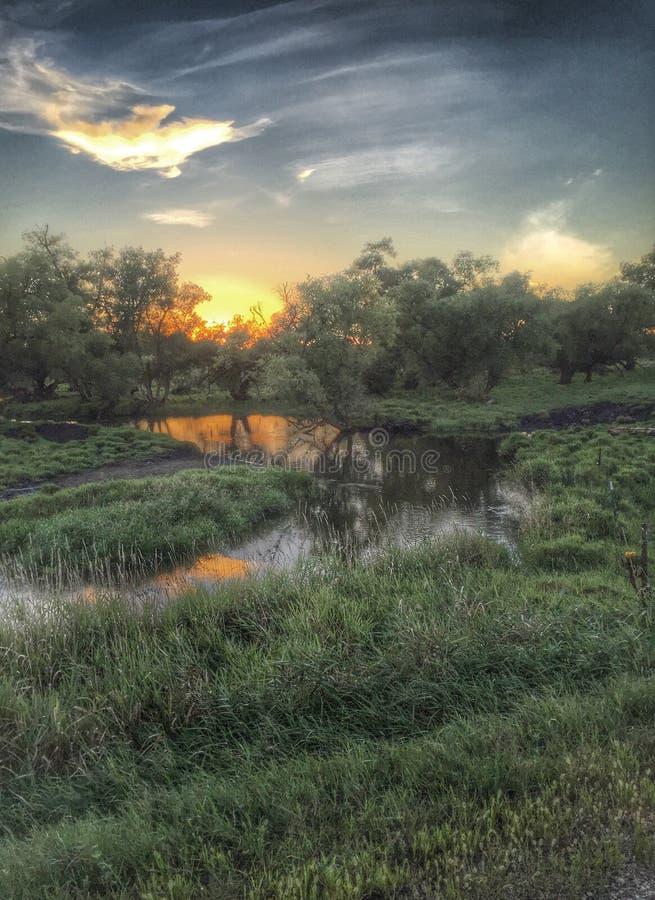 Κολπίσκος στο αγροτικό ΜΝ στοκ φωτογραφία με δικαίωμα ελεύθερης χρήσης