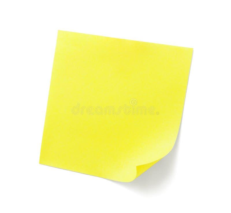 κολλώδης κίτρινος σημε&iota στοκ εικόνες
