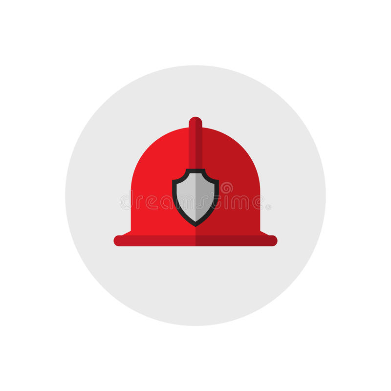 Κράνος πυροσβεστών Ενιαίο εικονίδιο εξοπλισμού πυρκαγιάς σκιαγραφιών επίσης corel σύρετε το διάνυσμα απεικόνισης Επίπεδο ύφος ελεύθερη απεικόνιση δικαιώματος