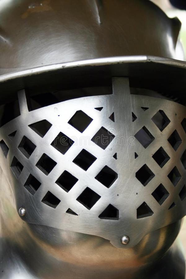 Κράνος χάλυβα για το knigh στοκ εικόνες με δικαίωμα ελεύθερης χρήσης